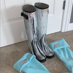 Tall Hunter Rain Boots and Socks